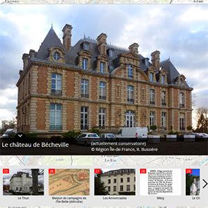 Carte des maisons de campagne de Seine-Aval