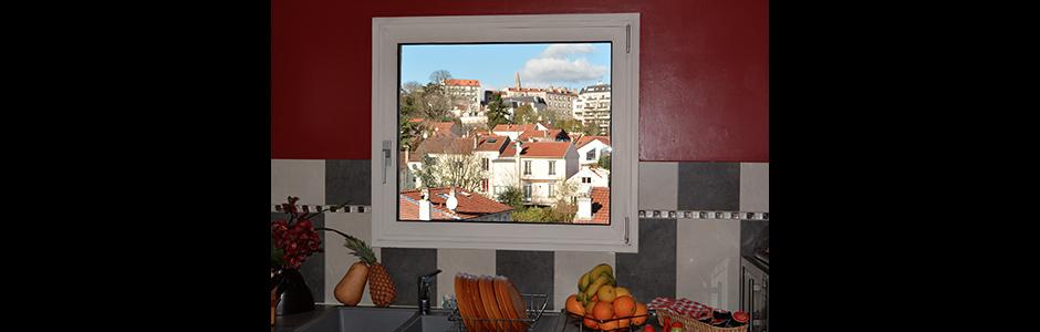 Une carte postale dans la cuisine. Nogent-sur-Marne.