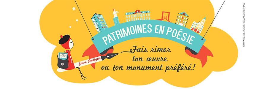 Ateliers Patrimoines en poésie Journées européennes du Patrimoine 2017