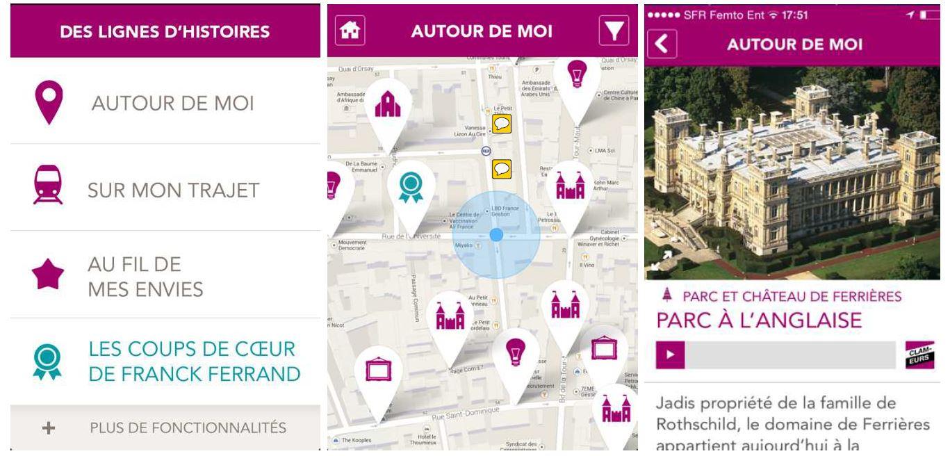 L'application Hapi sur téléphone mobile pour découvrir le patrimoine culturel francilien