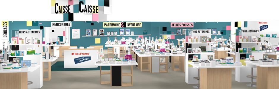 Stand du service Patrimoines et Inventaire au Salon du Livre