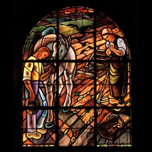 La prière de l'Angelus, inspiré du célèbre tableau de Millet