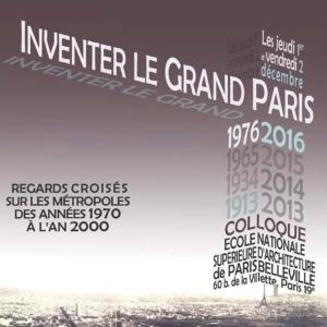 colloque Inventer le Grand Paris étdition 2016