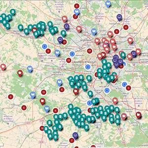 Carte interactive des études de l'Inventaire du Patrimoine d'Île-de-France